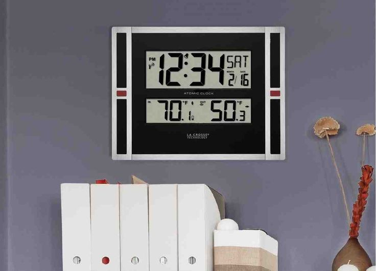 42 best tv digital wall clock images on pinterest digital wall la crosse atomic digital wall clock gumiabroncs Choice Image