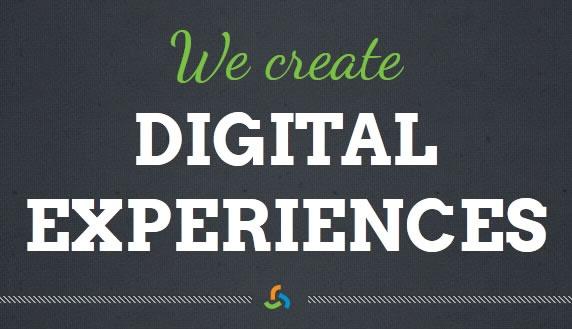 clean design for a digital agency.