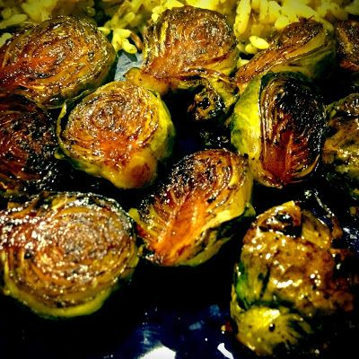 Roasted Brussel Sprouts. 10 minutes in the airfryer at 200deg should be enough. 12 sprouts, 1/4 c olive oil, 2 tbs. balsamic vinegar, salt and pepper.