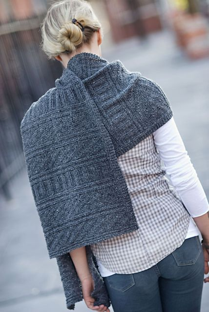 Guernsey Wrap By Jared Flood - Purchased Knitted Pattern - (ravelry)