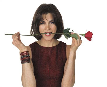 Wendie Malick * Striking actress who played wise-cracking ex-model Nina Van Horn on the TV series Just Shoot Me.