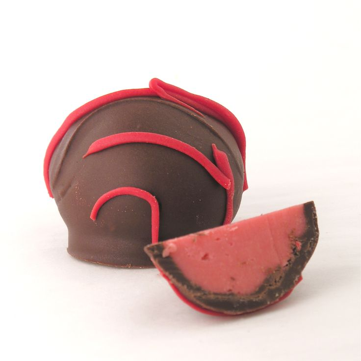 Chocolate-covered Black Cherry Truffle from easybaked - made with KoolAid!