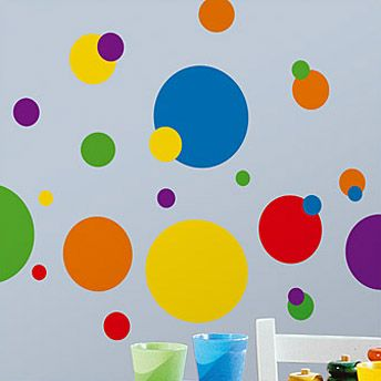 Cute colorful dots to add on church nursery walls