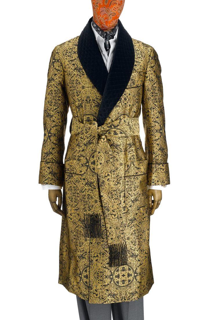 Mens Smoking Jacket Robe