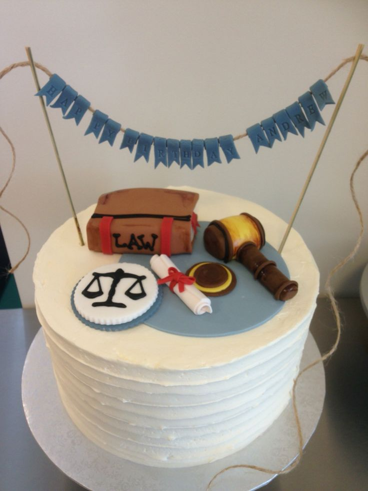 Happy Birthday cake for a lawyer!  www.theflourpot.ca