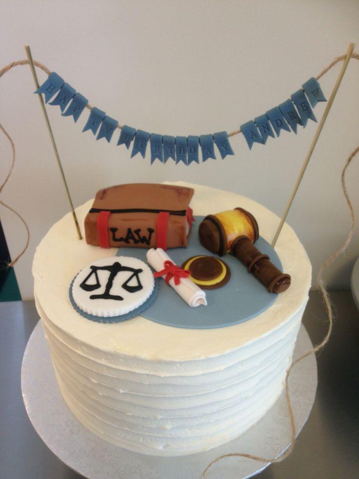 Happy Birthday cake for a lawyer!  www.theflourpot.ca