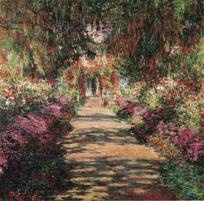 Garden Path At Giverny - Monet - Art Print 16 x 20 - FREE SHIPPING
