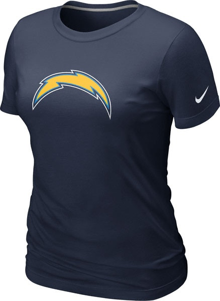 San Diego Chargers Women's Navy Nike Team Logo T-Shirt