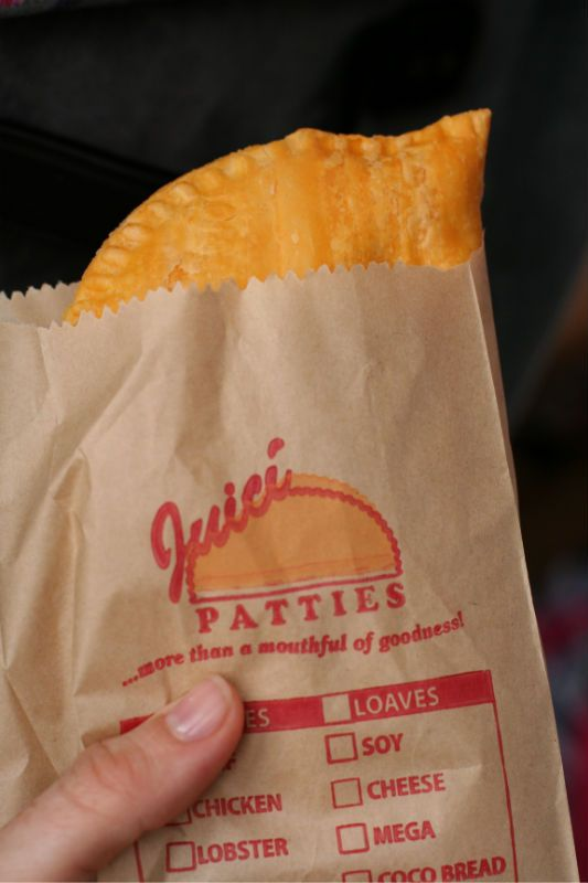 Jamaican Beef Patty - a delicious meal in a bag...