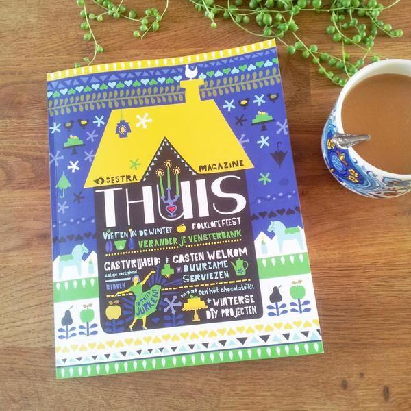 Hij is er weer: THUIS! Een heerlijk dik magazine vol DIY en nog veel meer.