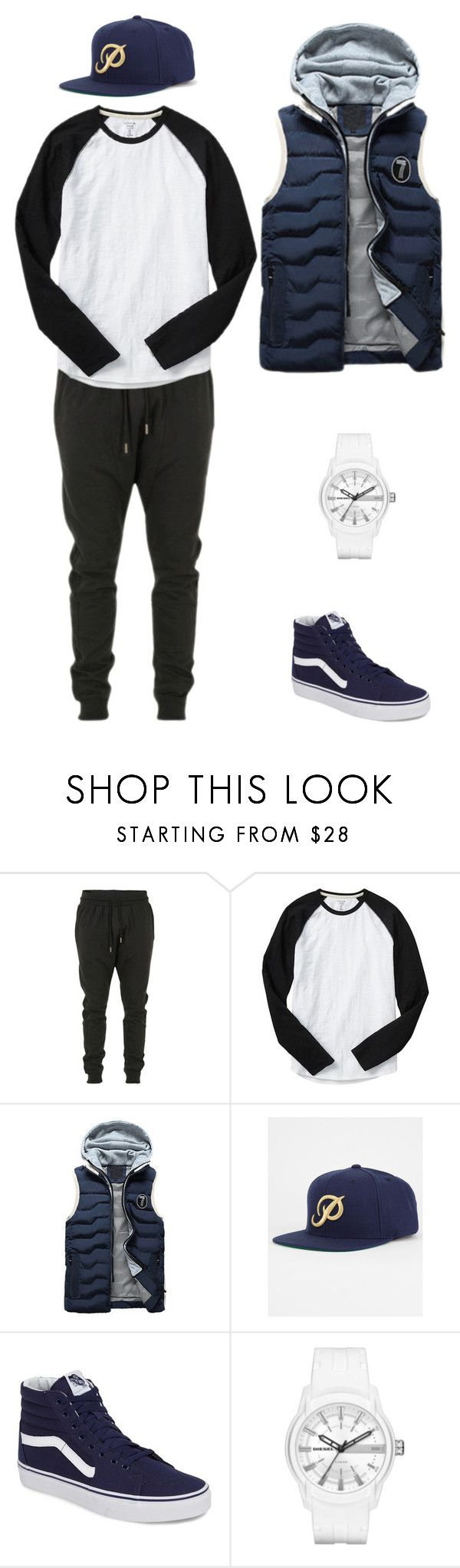 """Untitled #29"" by darkmortal24 on Polyvore featuring Blood Brother, Gap, Vans and Diesel"