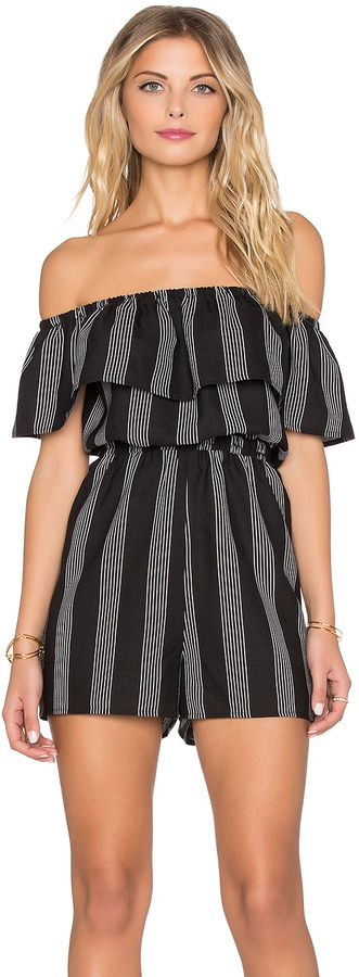Lucca Couture Striped Romper on ShopStyle