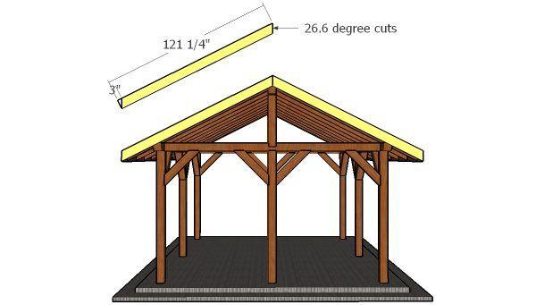 14x16 Pavilion Roof Free Diy Plans Howtospecialist How To Build Step By Step Diy Plans Pavilion Plans Diy Plans Pavilion