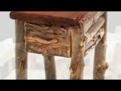 Мебель и интерьеры из бревен и веток - YouTube