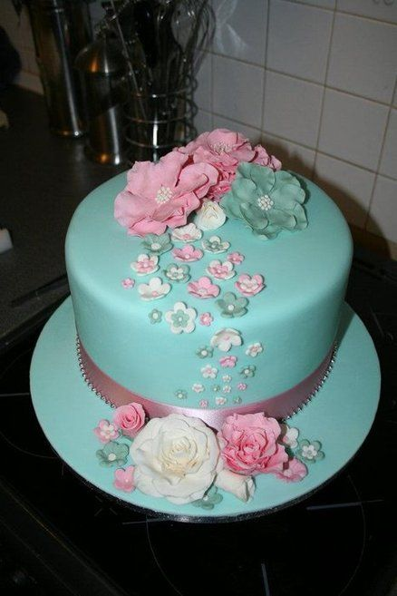 Teal And Black Birthday Cakes