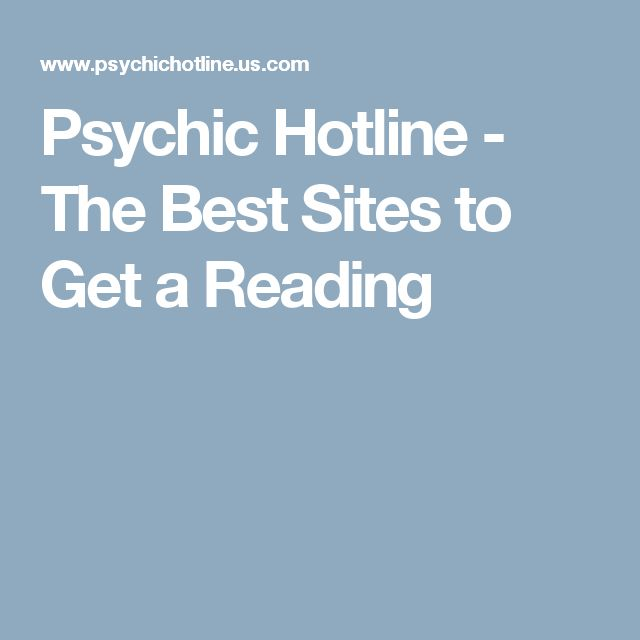 Psychic Hotline - The Best Sites to Get a Reading