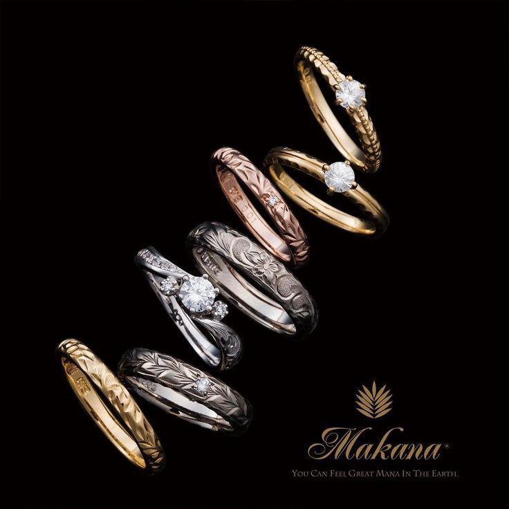ハワイアンジュエリー リング 結婚指輪 婚約指輪 マリッジリング エンゲージリング エタニティリング ゴールド プラチナ ダイヤ 海 マカナ 記念日 プレゼント リゾートウェディング リゾート婚 サーファー 波 Wedding 高崎