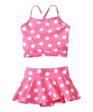 Loving this Blossoming Pink Reversible Tankini - Infant, Toddler & Girls on #zulily! #zulilyfinds