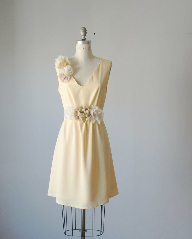 mismatched bridesmaid dresses / Romantic / pale yellow / dresses /Fairy / Dreamy / Bridesmaid / Party / wedding / Bride /. $99.99, via Etsy.
