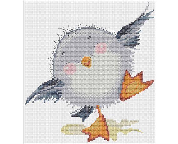 Baby Seagull - Counted Cross Stitch Pattern (X-Stitch PDF)