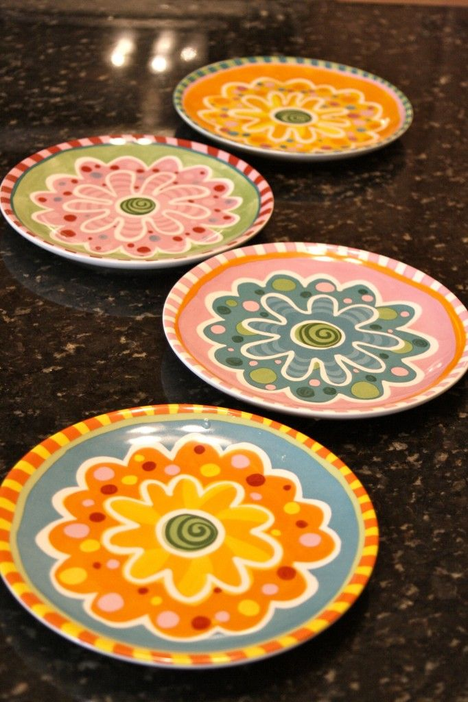 Lisa Frost New Dishes by Silvestri are a colorful example of how to create your own dish set.