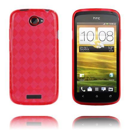 Tuxedo (Rød Gjennomsiktig) HTC One S Deksel