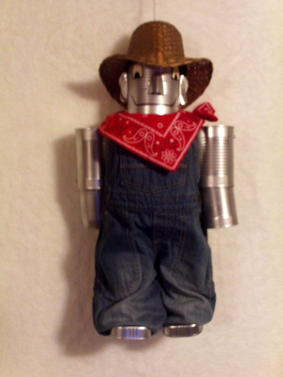 66 best tin can people images on pinterest tin can man for Tin man out of cans