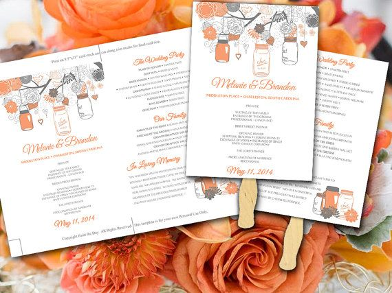 The 25 best diy wedding fans ideas on pinterest fan programs wedding fan program diy wedding program mason jar program printable program wedding fan template diy ceremony program fan program template solutioingenieria Image collections