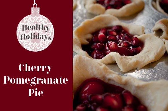 Cherry Pomegranate Mini Pies Recipe…: Christmas Desserts Recipes, Holidays Recipes, Mini Pie Recipes, Cherries Pomegranates, Mini Pies, Pomegranates Minis, Cherry Pomegranate, Pomegranate Minis, Minis Pies Recipes