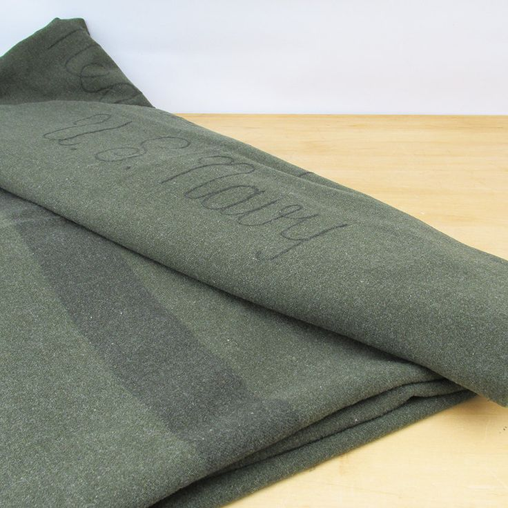 WWII U.S. Navy Wool Hospital Blanket by leapinglemming on ...