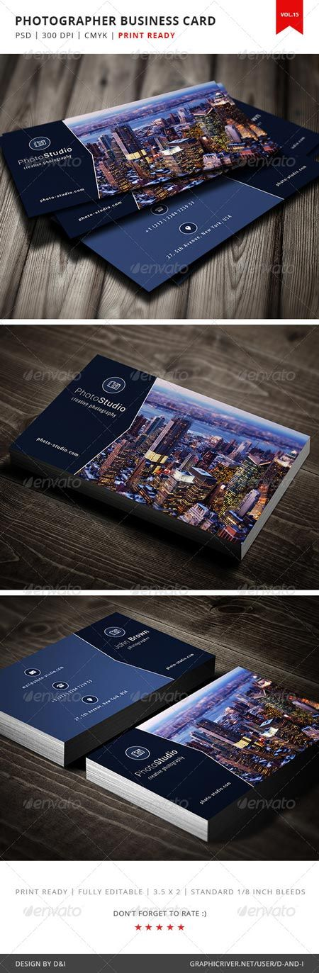 GraphicRiver Photographer Business Card - Vol.15 5181155