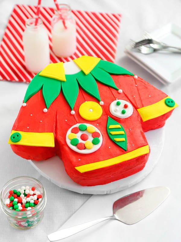 Pastel de #Navidad con fondant #tartas #postres