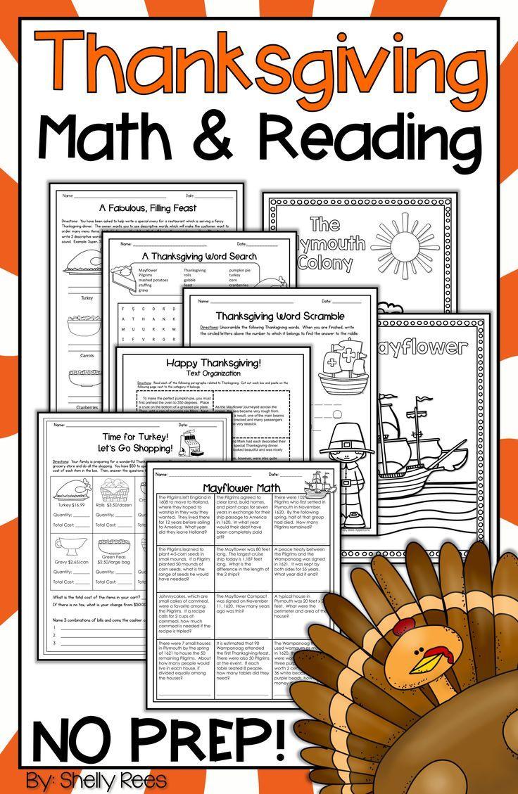 medium resolution of Thanksgiving Reading activities and Thanksgiving Math activities are fun  for kids in 3rd