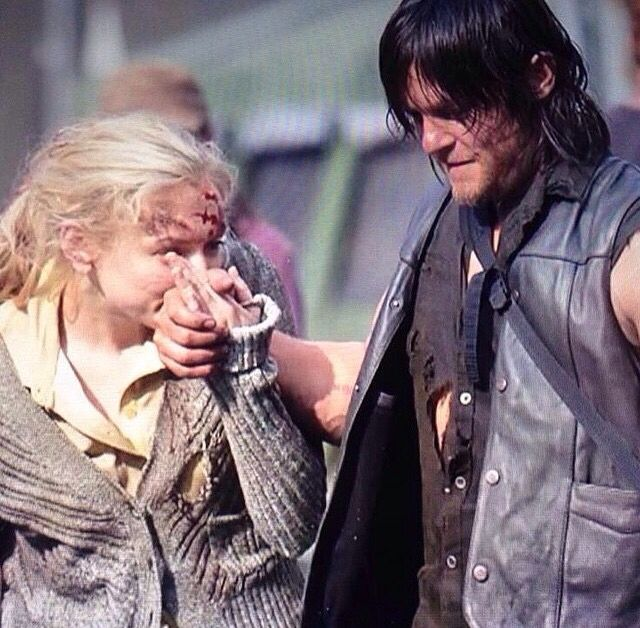 """Emily & Norman BTS    """"You're gonna miss me so bad when I'm gone, Daryl Dixon."""""""