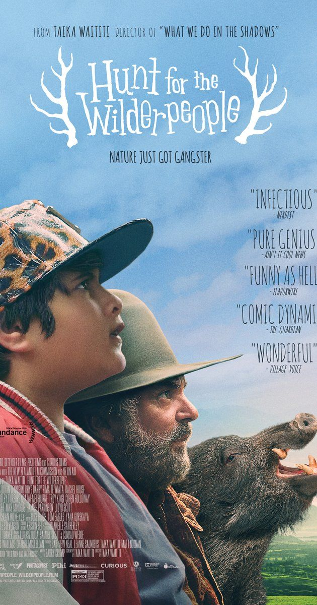 Hunt for the Wilderpeople (2016)  Directed by Taika Waititi.  With Sam Neill, Julian Dennison, Rima Te Wiata, Rachel House. A national manhunt is ordered for a rebellious kid and his foster uncle who go missing in the wild New Zealand bush.