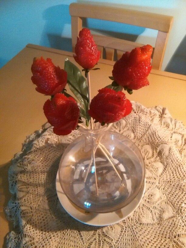 Rose in fragole