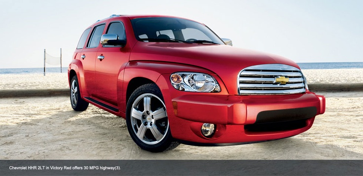 Chevrolet HHR 2LT in Victory Red offers 30 MPG highway...great choice for several reasons!  :)