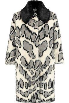 Ainea Printed faux fur coat   THE OUTNET