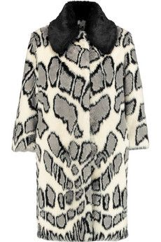 Ainea Printed faux fur coat | THE OUTNET