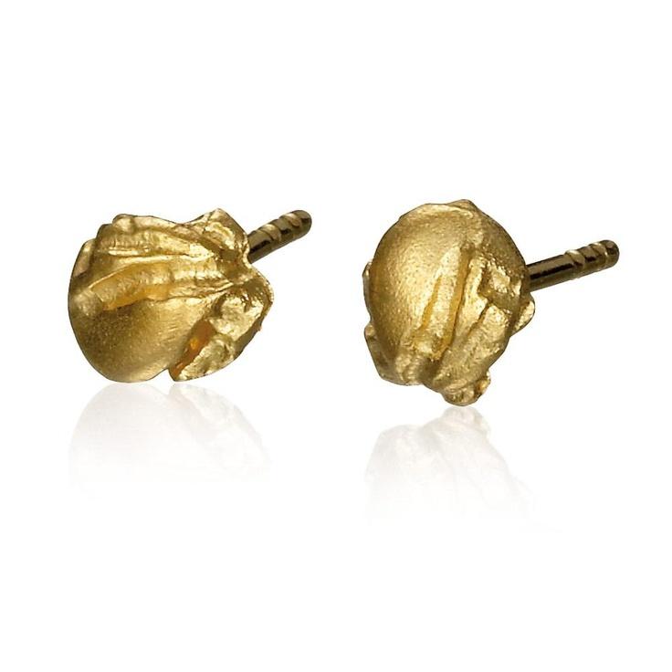 MININUGGET  Design Björn Weckström / Gold Earrings / Lapponia Jewelry / Handmade in Helsinki
