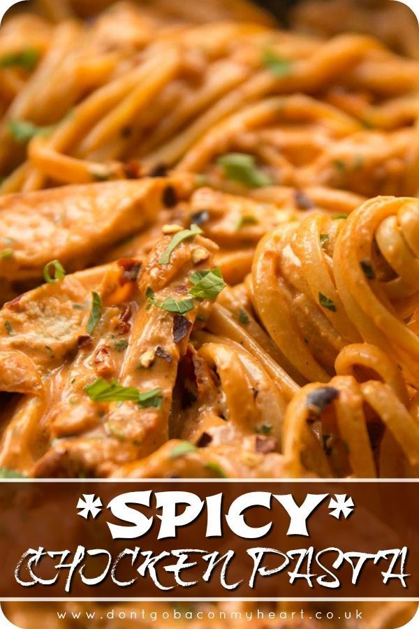 Spicy Chicken Pasta Recipe Chicken Pasta Recipes Spicy Chicken Pasta Pasta Recipes