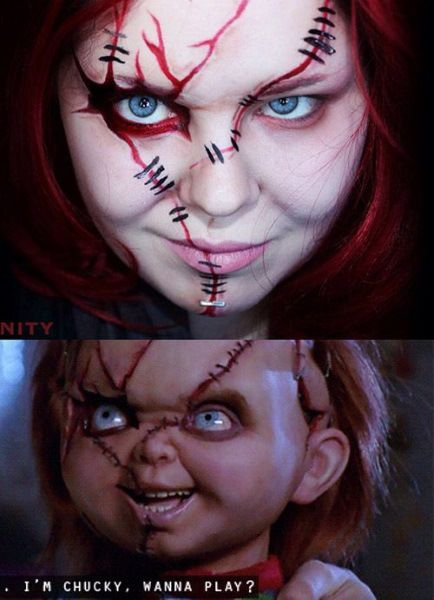 Chucky Make up idea What's good about this, it's both ideal for girls and boys.
