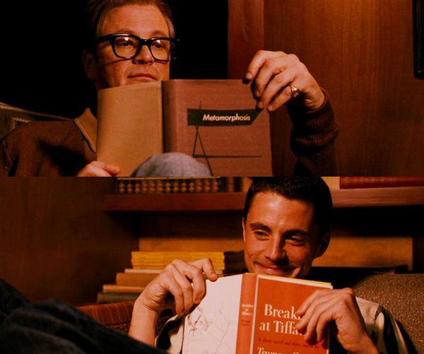 Jim : Do you ever just live in the moment? It's like now, what could be better than being tucked here with you?... I mean, if I died right now it would be OK. // George : Well it wouldn't be OK with me, so why don't you just shut up and go and change the record. // (A Single Man)