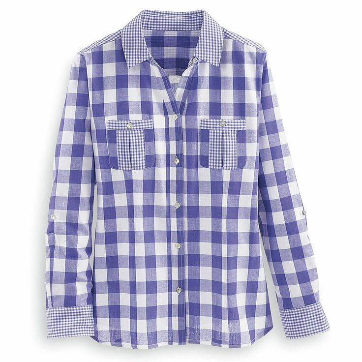 Mixed Plaid Shirt - Women's Clothing – Casual, Comfortable & Colorful Styles – Plus Sizes