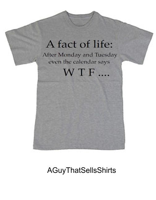 LOL! Funny Shirt Even The calender says WTF