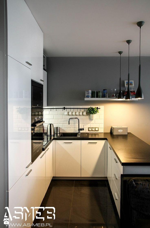 Realizacja ul Milenijna, Warszawa - Mała kuchnia, styl skandynawski - zdjęcie od AS-MEB producent kuchni i mebli