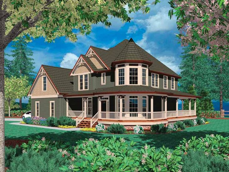 Small house wrap around porch wrap around porches for Small cabin floor plans wrap around porch