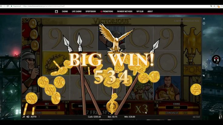 Victorious Netent big win. online slot. Online casino. big win casino