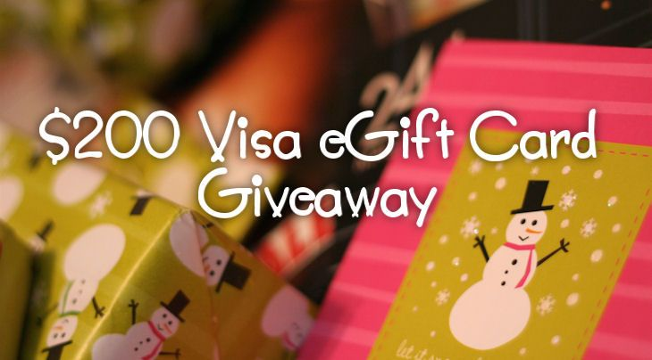 $200 Visa eGift Card Giveaway ends October 29, 2013.