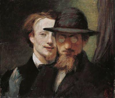 Jan Mankes, Self-Portrait, 1911. Hans von Marées, Double Portrait Marées [left] and Lenbach, 1863